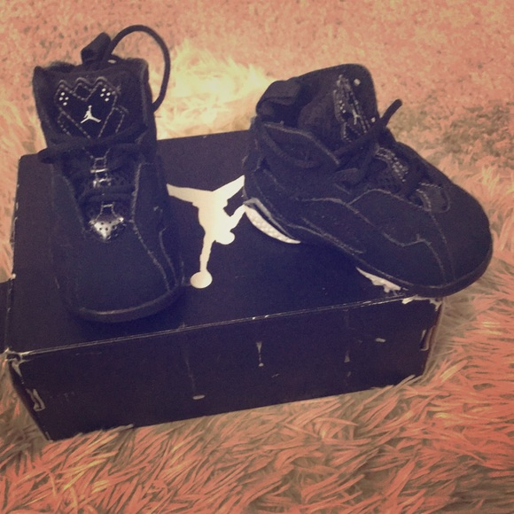 low priced ec5dd 3026c Black toddler Jordans